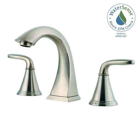 pfister pasadena   widespread  handle bathroom faucet  brushed nickel lf  pdkk