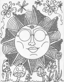 hippie coloring pages items similar to hippie custom coloring book coloring