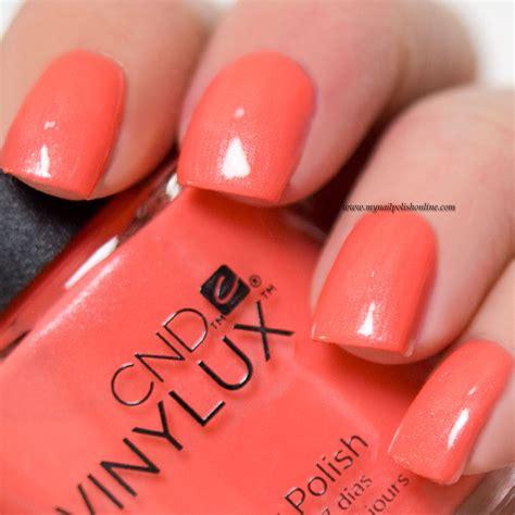 cnd vinylux desert poppy my nail