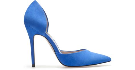 New Wedges Electric Blue Paling Murah zara high heel v shoe in blue lyst