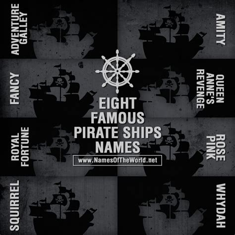 male boat names eight famous pirate ships names