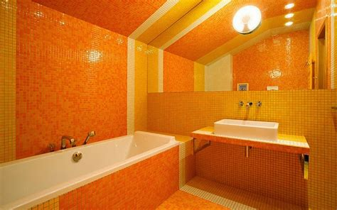 yellow and orange bathroom 10 modern day bathroom styles and tips in orange colour