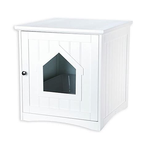 trixie cat house trixie pet products wooden cat house in white bed bath beyond