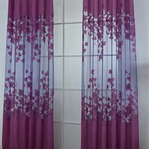 floral window curtains upscale floral tulle room door blackout window curtain