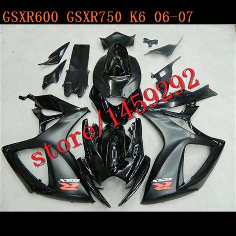 2007 Suzuki Gsxr 600 Parts Black Fairing Kit For Gsxr600 K6 K7 2006 2007 Gsxr750 06