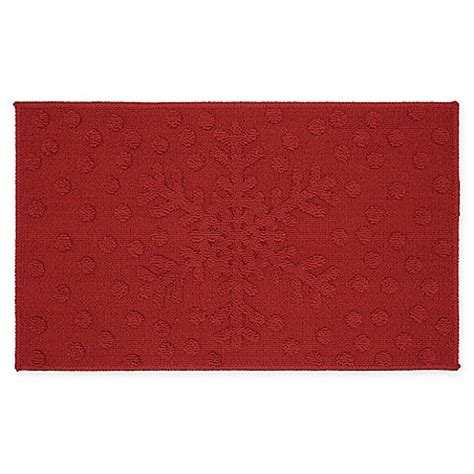 Mohawk Kitchen Rugs Buy Mohawk Snowflakes Dots Kitchen Rug From Bed Bath Beyond