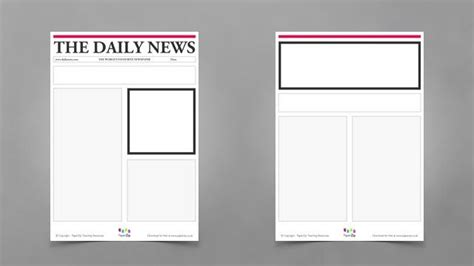blank newspaper template blank newspaper template 20