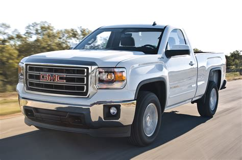 truck gmc 2014 gmc sierra sle regular cab front three quarters in