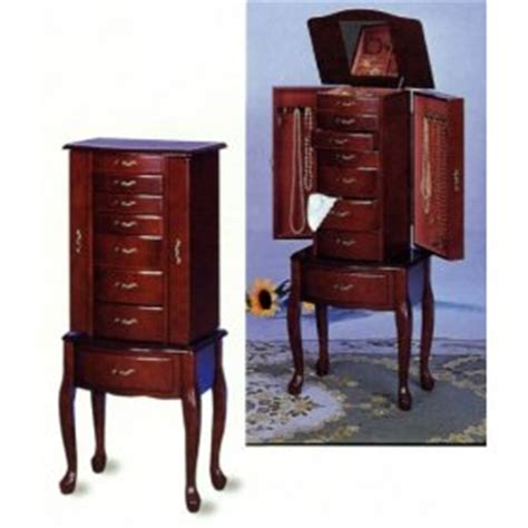 queen anne jewelry armoire cherry finish queen anne style jewelry chest quotes