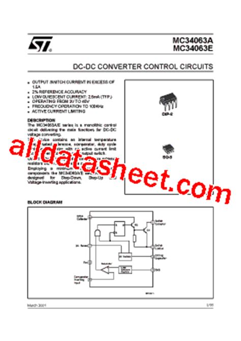 transistor e13007 datasheet pdf mc34063 datasheet pdf stmicroelectronics