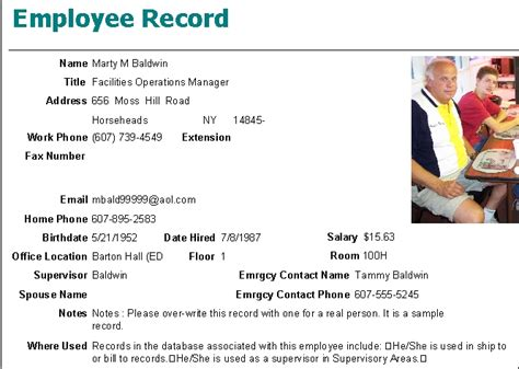 Employee Records Cleaning Management Software Employees Menu