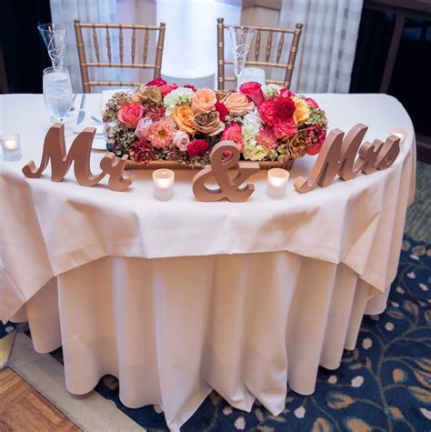 mr and mrs table decoration mr mrs signs for the wedding table decor in a