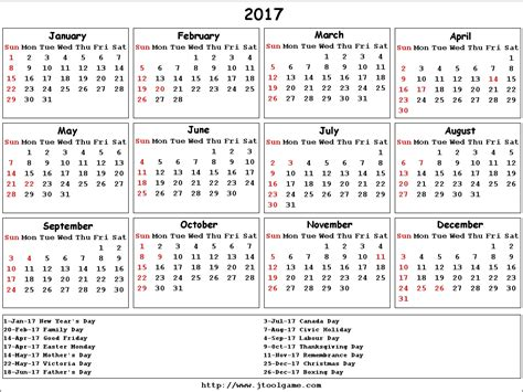 download a free printable 2017 yearly calendar from vertex42 com