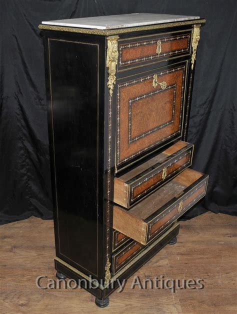mother of pearl desk antique napoleon iii inlaid secretaire desk cabinet mother