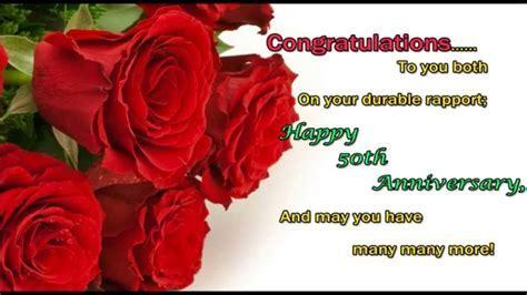 Happy 50th Wedding Anniversary wishes, 50th Anniversary