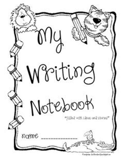 printable kindergarten journal covers writing on pinterest writing friendly letter and