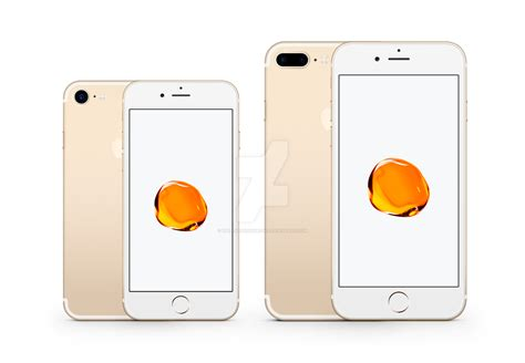 iphone 7 and 7 plus vector mockup gold by theanthnonyrich on deviantart