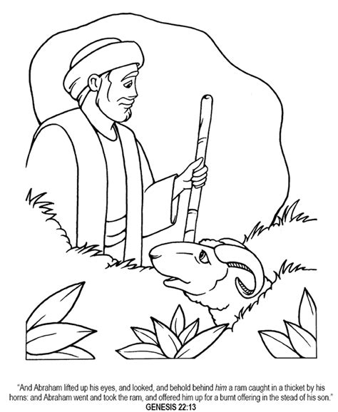 abraham and isaac coloring page