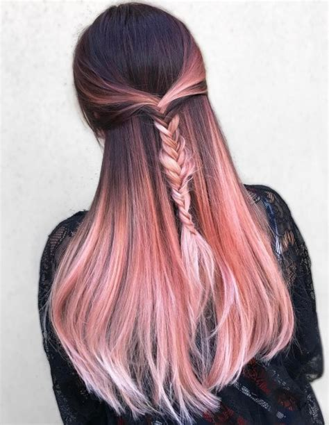 rose gold hair dye dark hair 20 rose gold hair color ideas tips how to dye
