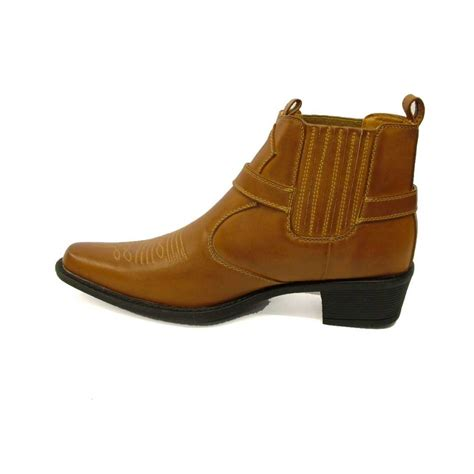 mens ankle cowboy boots u s brass eastwood s ankle cowboy boot brown