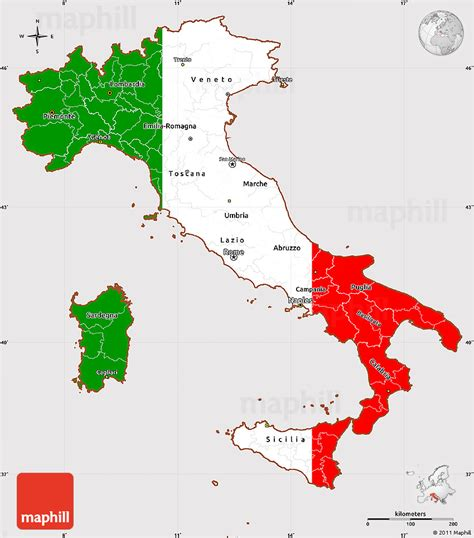 simple map of italy map simple