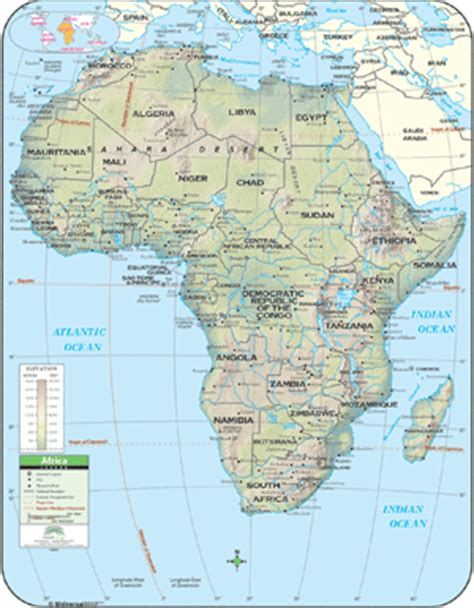 africa map with latitude and longitude universal map wall map africa wall map