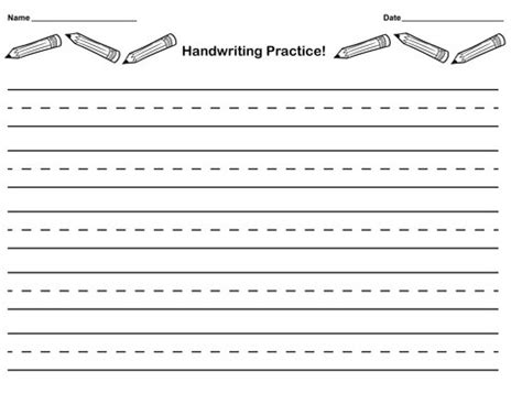 Learning To Write Lined Paper Template