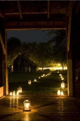 luminaria lighted path wedding   Once Wed