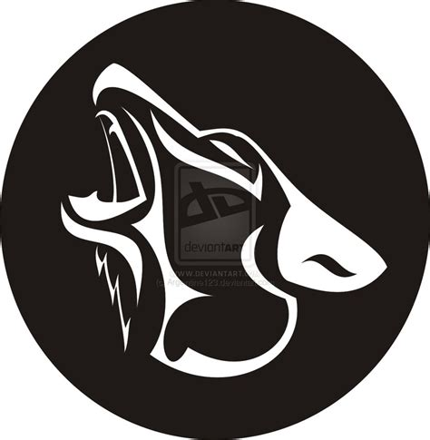 wolf tattoo logo howling wolf logo