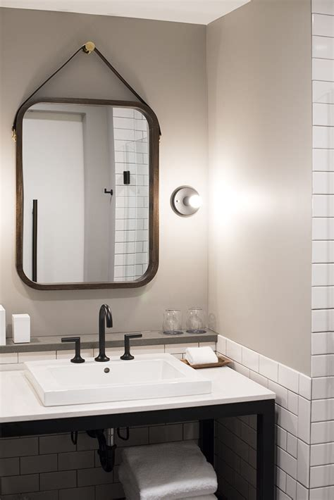 modern industrial bathroom hewing hotel travel adventure room for tuesday