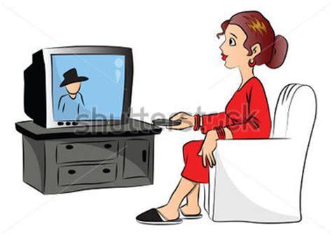 imagenes animadas viendo television ilustraci 243 n vectorial de mujer viendo la televisi 243 n en
