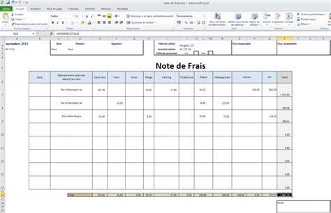 Modele Note De Frais Kilometrique