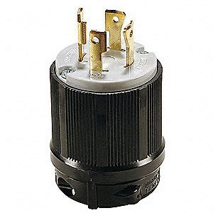 0332 Nema Top Black Grey power locking l15 30p 30a 250v 3 hp 29tk45 29tk45 grainger