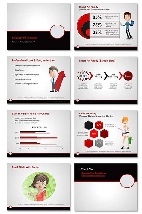 free professional powerpoint template maroon gray
