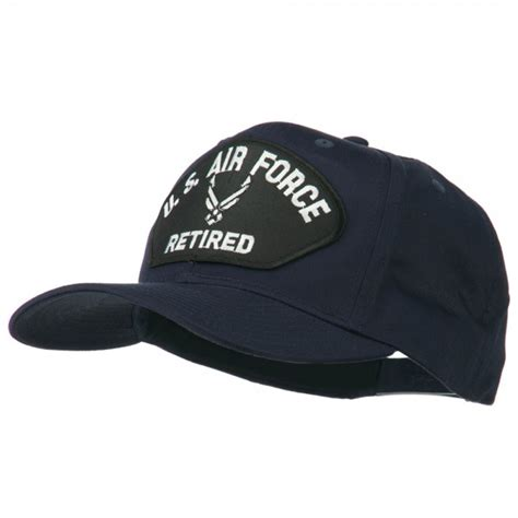 Us Air Forces Cap Black embroidered cap navy black air us retired patched cap e4hats