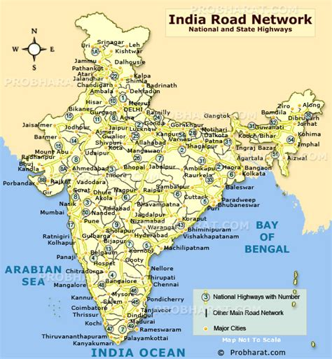 india map with cities india road map road connectivity in india map