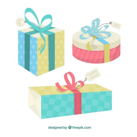 it gifts gift boxes vector free