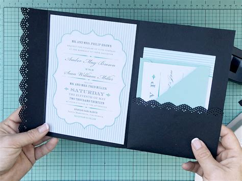 How To Hack An Envelope Into A Pocket Invitation Pocketfold Invitation Template