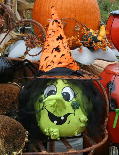 painted pumpkin and gourd to make a witch fall halloween ideas pinterest gourds