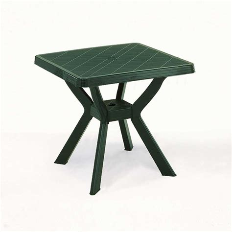 tavoli plastica tavolo plastica nilo verde 80x80 mondobrico arredo giardino