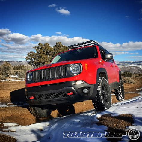 jeep renegade trailhawk lifted jeep renegade winter wheeling on the rocks