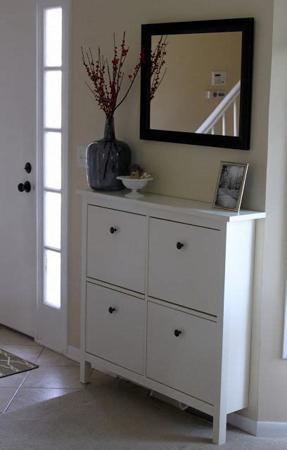 ikea entryway storage hemnes shoe cabinet from ikea with mirror over it instead