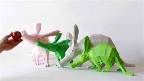 Animals Out Of Paper - diy geometric paper animal sculptures by paperwolf colossal