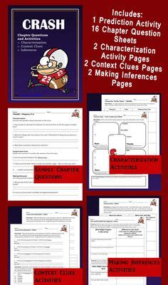 Crash By Jerry Spinelli Worksheets by 1000 Images About Crash On Jerry O Connell