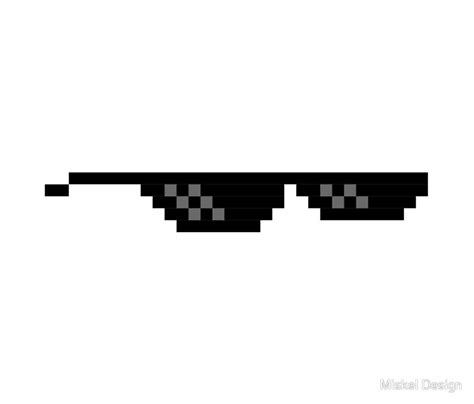 Meme Glasses - quot 8 bit mlg glasses quot travel mugs by miskel design redbubble