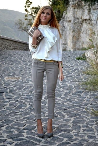 inspiring ways  wear white blouse ecstasycoffee
