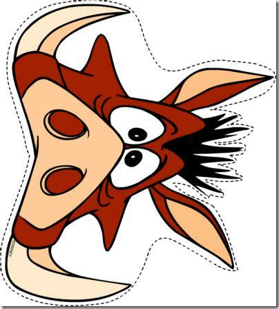 printable zazu mask mascara infantil timon y pumbas cerca amb google