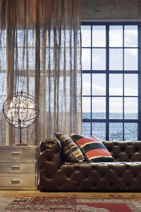 industrial style curtains americana x london style