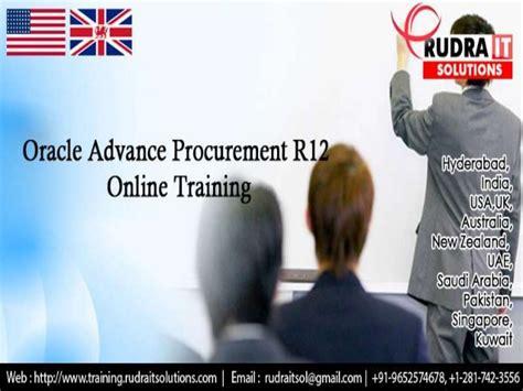 online tutorial r oracle advanced procurement r12 online training