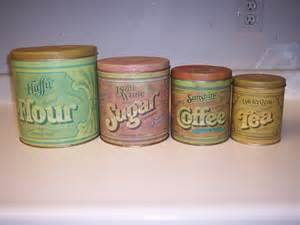 Kitchen Canisters Flour Sugar Vintage Kitchen Canisters Flour Sugar Tea Coffee Made By